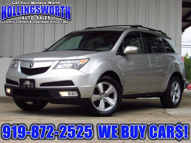 2012 Acura MDX for sale at Hollingsworth Auto Sales in Raleigh NC