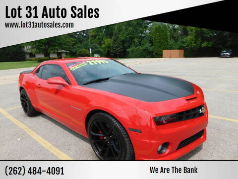 2013 Chevrolet Camaro for sale at Lot 31 Auto Sales in Kenosha WI