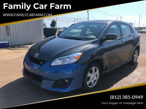 2010 Toyota Matrix for sale at Family Car Farm in Princeton IN