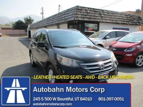 2013 Honda CR-V for sale at Autobahn Motors Corp in Bountiful UT