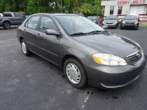 2008 Toyota Corolla for sale at DONNY MILLS AUTO SALES in Largo FL