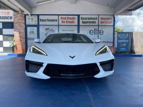 2021 Chevrolet Corvette for sale at ELITE AUTO WORLD in Fort Lauderdale FL