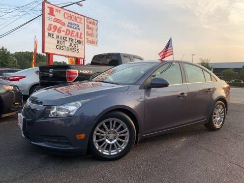 2014 Chevrolet Cruze for sale at 1st Choice Auto Sales in Newport News VA