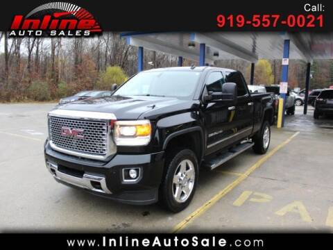 2015 GMC Sierra 2500HD for sale at Inline Auto Sales in Fuquay Varina NC