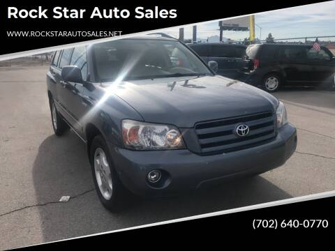 2005 Toyota Highlander for sale at Rock Star Auto Sales in Las Vegas NV