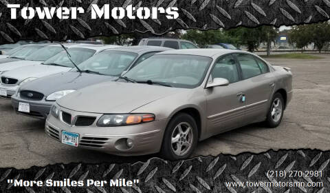 2001 Pontiac Bonneville for sale at Tower Motors in Brainerd MN