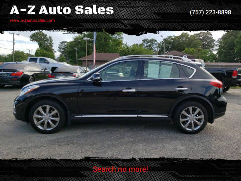 2016 Infiniti QX50 for sale at A-Z Auto Sales in Newport News VA