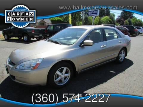 2003 Honda Accord for sale at Hall Motors LLC in Vancouver WA