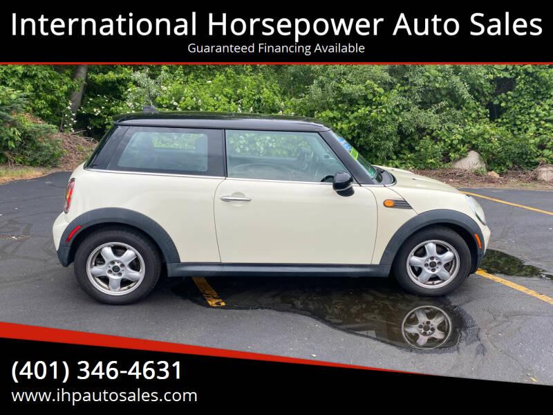 2008 MINI Cooper for sale at International Horsepower Auto Sales in Warwick RI