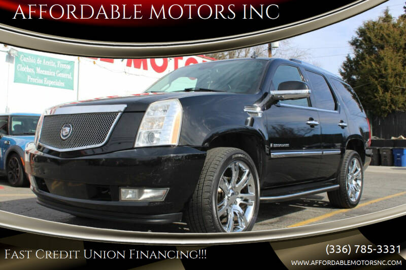 2007 Cadillac Escalade for sale at AFFORDABLE MOTORS INC in Winston Salem NC