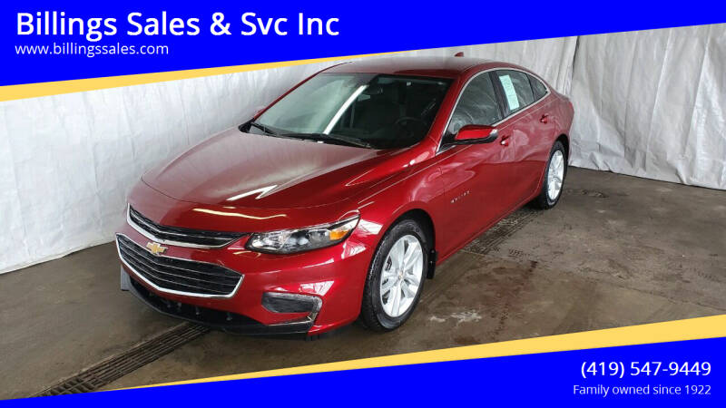 2018 Chevrolet Malibu for sale at Billings Sales & Svc Inc in Clyde OH