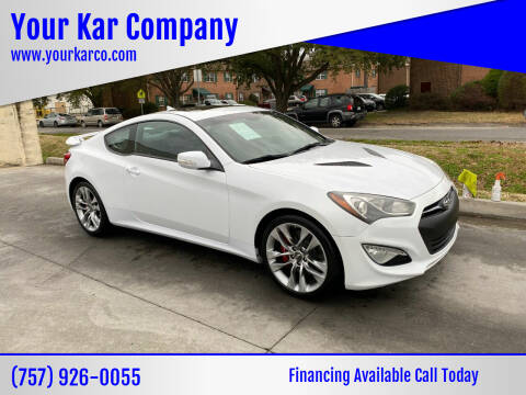 2015 Hyundai Genesis Coupe for sale at Your Kar Company in Norfolk VA