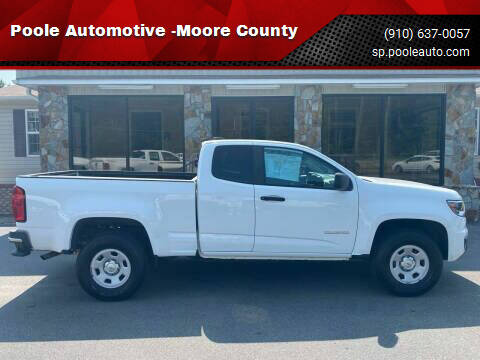 2016 Chevrolet Colorado for sale at Poole Automotive -Moore County in Aberdeen NC