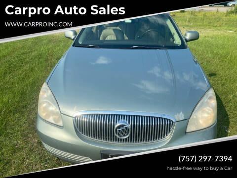 2007 Buick Lucerne for sale at Carpro Auto Sales in Chesapeake VA