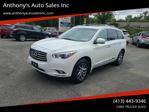 2013 Infiniti JX35 for sale at Anthony's Auto Sales Inc in Pittsfield MA