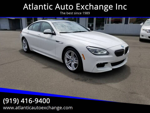2015 BMW 6 Series for sale at Atlantic Auto Exchange Inc in Durham NC