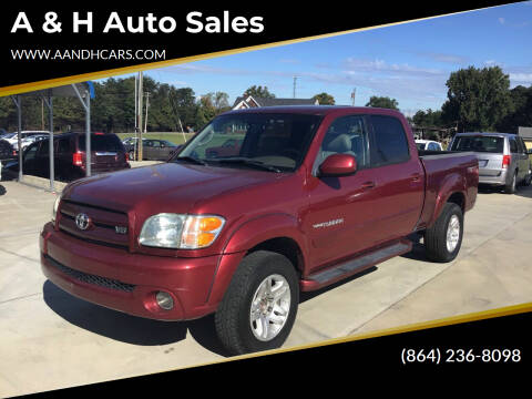 2006 Toyota Tundra for sale at A & H Auto Sales in Greenville SC