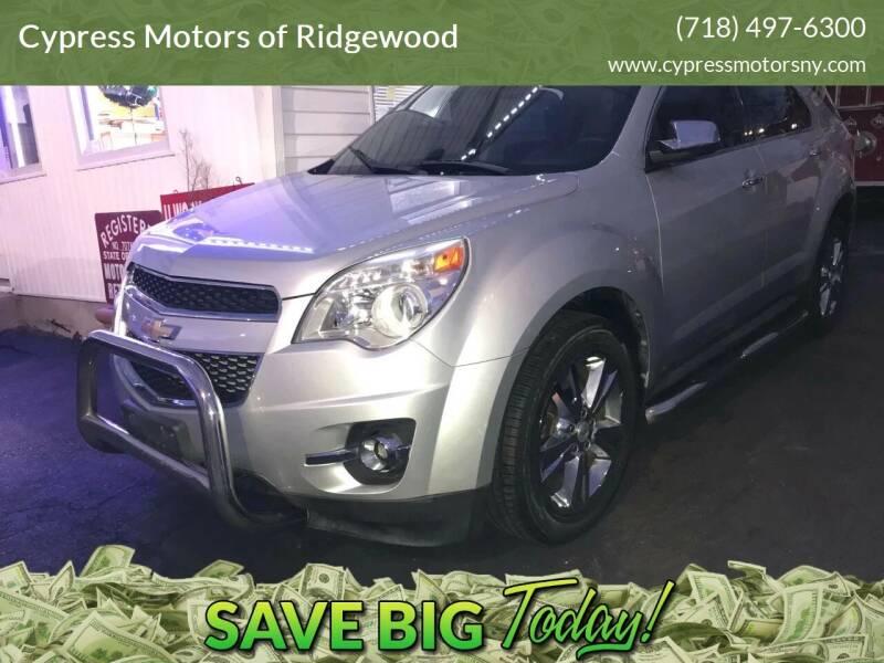 2011 Chevrolet Equinox for sale at Cypress Motors of Ridgewood in Ridgewood NY