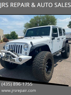 2014 Jeep Wrangler Unlimited for sale at JRS REPAIR & AUTO SALES in Richfield UT