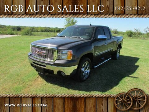 2011 GMC Sierra 1500 for sale at RGB AUTO SALES LLC in Manor TX