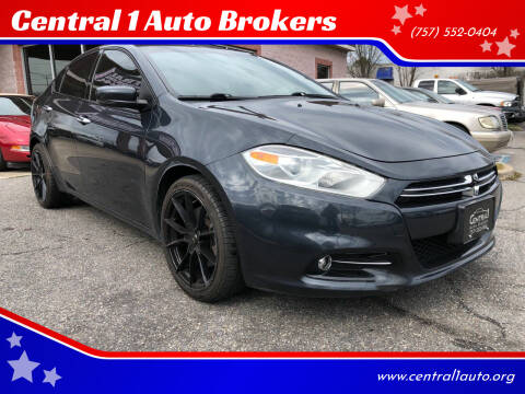 2013 Dodge Dart for sale at Central 1 Auto Brokers in Virginia Beach VA