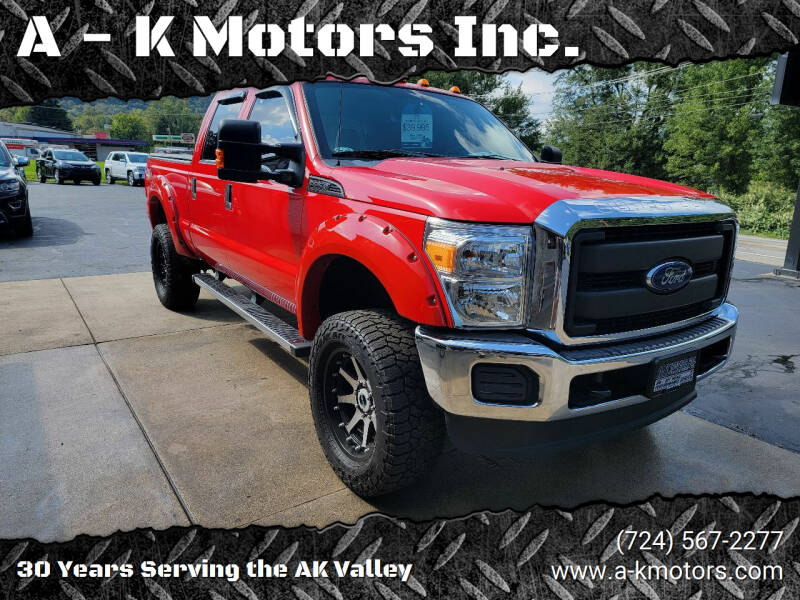 2016 Ford F-250 Super Duty for sale at A - K Motors Inc. in Vandergrift PA