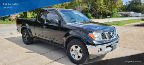 2005 Nissan Frontier for sale at G&J Car Sales in Houston TX