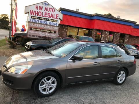 2007 Honda Accord for sale at HW Auto Wholesale in Norfolk VA