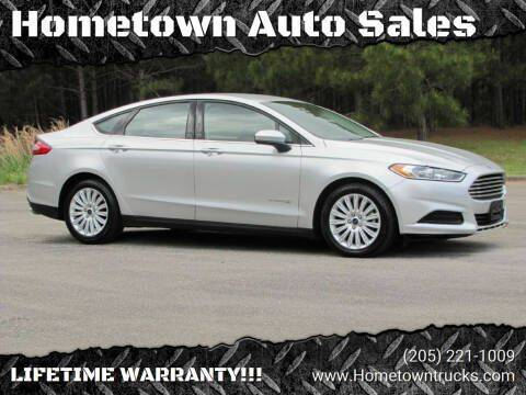2016 Ford Fusion Hybrid for sale at Hometown Auto Sales - Cars in Jasper AL