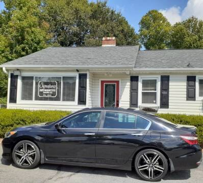 2017 Honda Accord for sale at SIGNATURES AUTOMOTIVE GROUP LLC in Spartanburg SC