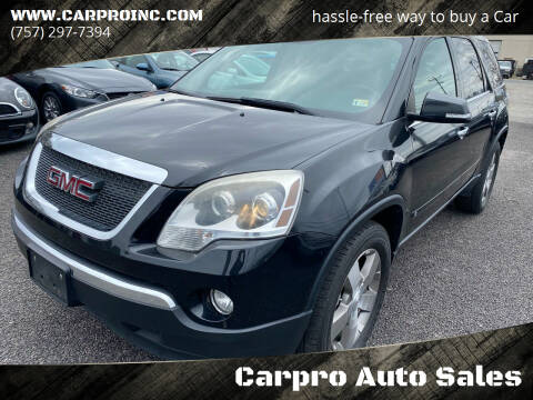 2010 GMC Acadia for sale at Carpro Auto Sales in Chesapeake VA
