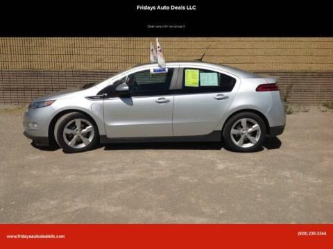 2012 Chevrolet Volt for sale at Fridays Auto Deals LLC in Oshkosh WI