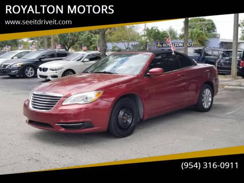 2014 Chrysler 200 Convertible for sale at ROYALTON MOTORS in Plantation FL