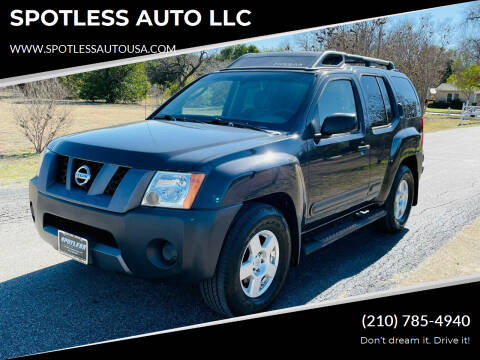 2006 Nissan Xterra for sale at SPOTLESS AUTO LLC in San Antonio TX