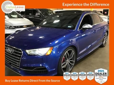 2016 Audi S3 for sale at Dallas Auto Finance in Dallas TX