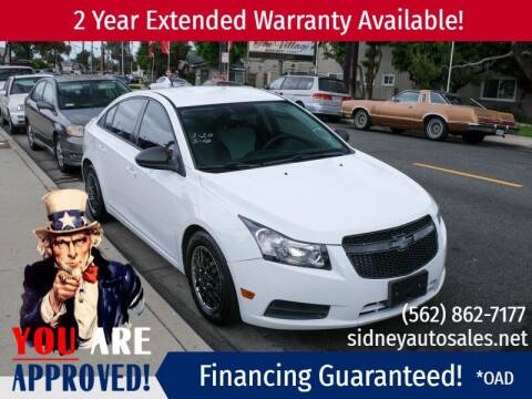 2013 Chevrolet Cruze for sale at Sidney Auto Sales in Downey CA