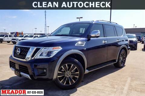 2018 Nissan Armada for sale at Meador Dodge Chrysler Jeep RAM in Fort Worth TX