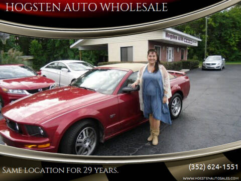 2006 Ford Mustang for sale at HOGSTEN AUTO WHOLESALE in Ocala FL