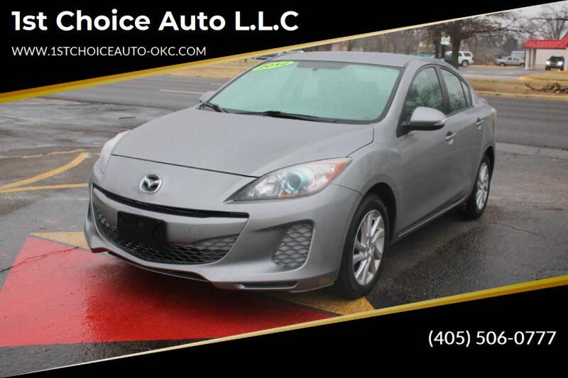 2012 Mazda MAZDA3 for sale at 1st Choice Auto L.L.C in Oklahoma City OK