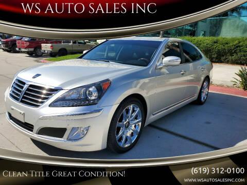 2011 Hyundai Equus for sale at WS AUTO SALES INC in El Cajon CA