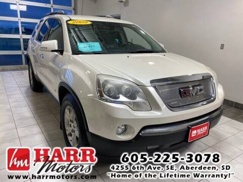 2009 GMC Acadia for sale at Harr Motors Bargain Center in Aberdeen SD