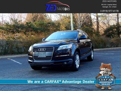 2007 Audi Q7 for sale at Zed Motors in Raleigh NC