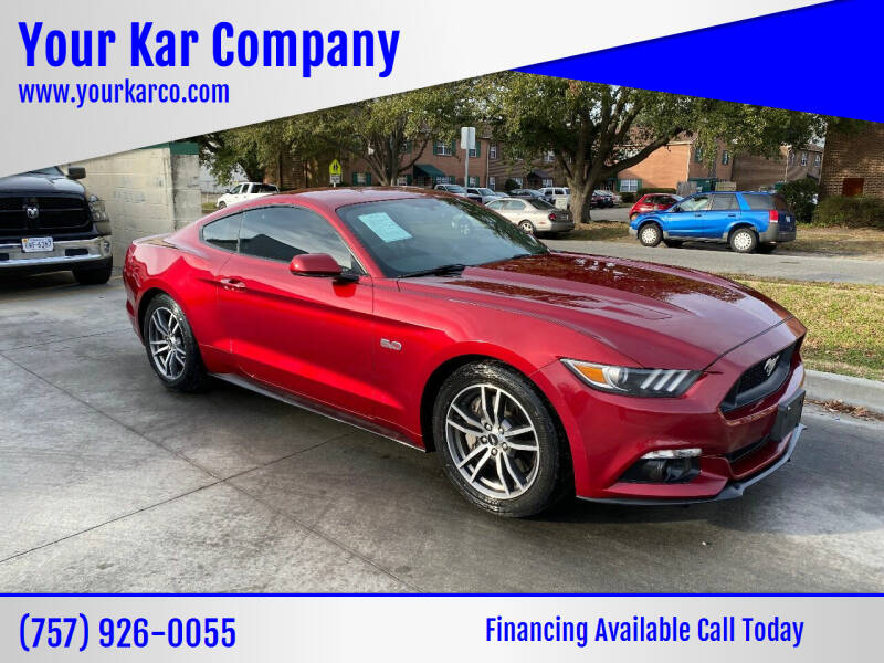 2016 Ford Mustang for sale at Your Kar Company in Norfolk VA