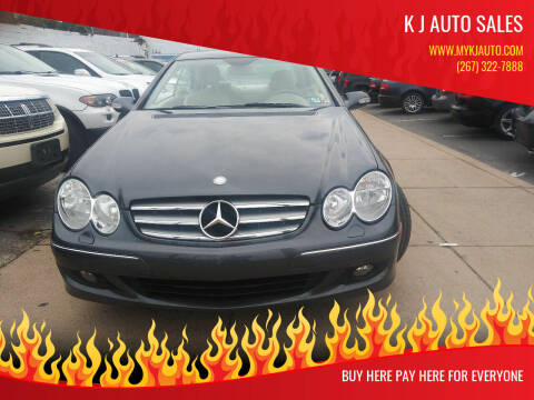 2008 Mercedes-Benz CLK for sale at K J AUTO SALES in Philadelphia PA