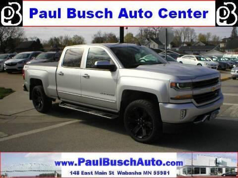 2016 Chevrolet Silverado 1500 for sale at Paul Busch Auto Center Inc in Wabasha MN