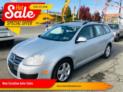 2009 Volkswagen Jetta for sale at New Creation Auto Sales in Everett WA
