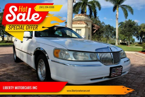1998 Lincoln Town Car for sale at LIBERTY MOTORCARS INC in Royal Palm Beach FL