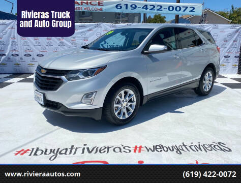 2019 Chevrolet Equinox for sale at Rivieras Truck and Auto Group in Chula Vista CA