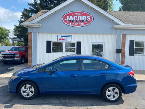 2013 Honda Civic for sale at Jacobs Motors LLC in Bellefontaine OH