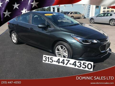2017 Chevrolet Cruze for sale at Dominic Sales LTD in Syracuse NY